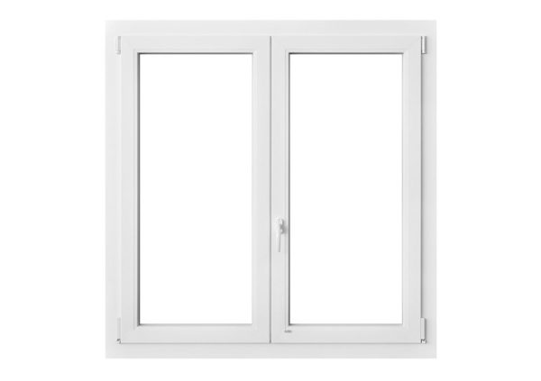 2 2 ante finestra portafinestra pvc 6 camere for Finestra pvc 2 ante